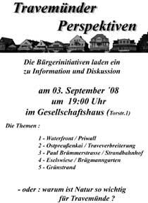 Travemünde Aktuell: Travemünder Bürgerinis laden zur Diskussion ein
