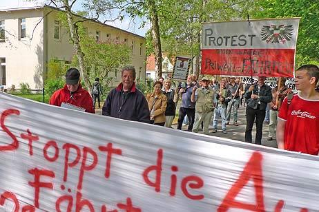 Wie bei der Demo Anfang Mai soll der Protest-Zug auch diesmal die Mecklenburger Landstraße entlang führen. Foto: <b>ARCHIV TA/KEV</b>