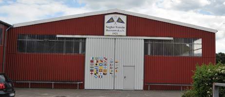 Allzu ernst scheint man die Pläne der Stadt nicht zu nehmen: Die Halle des Seglervereins wurde vor einiger Zeit noch frisch gestrichen. Foto: <b>TA</b>