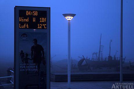Travemünde Aktuell: Nebel und Sonne