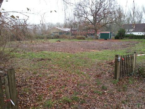 Das Grundstück im Fliegerweg ist bereits geräumt, jetzt kann der Bau beginnen. Foto: <b>TA</b>