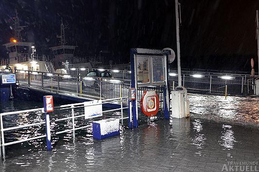 Travemünde Aktuell: Hochwasser höher als erwartet
