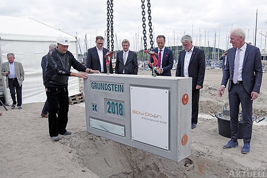 Travemünde Aktuell: Grundsteinlegung für das Slow Down TagungsCenter in Priwall Waterfront